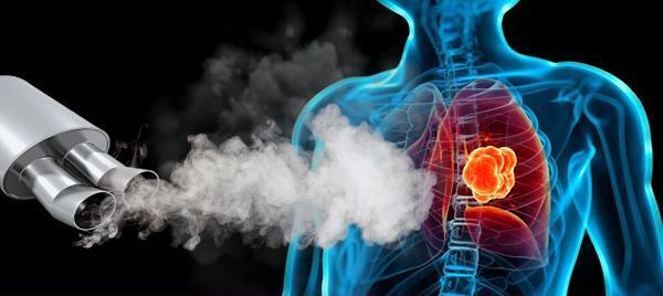 Gazele de esapament diesel si cancerul